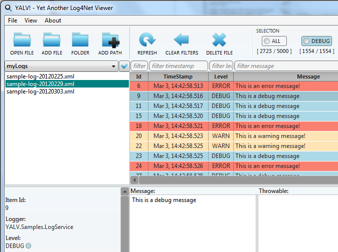YALV! - Yet Another Log4Net Viewer
